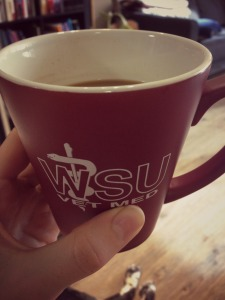 My bestie, Tara graduated from WSU School of Veterinarian Medicine and she gave me this mug, I'm so proud of her!